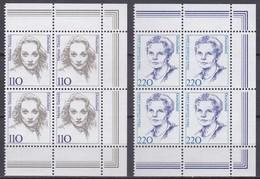 BRD, 1997,  Nr. 1939-1940 ** Frauen Der Deutschen Geschichte (XVI), 2 Viererblöcke Mit Rechtem Rand Aus Kleinbögen - Nuovi