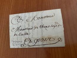LETTRE DU 26 JUILLET 1743 -  De Draguignan Pour Grasse   ( Port Offert ) - Marcofilie (Brieven)