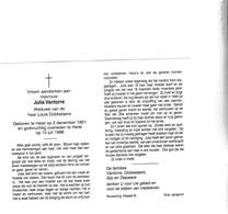 J.VANTORRE °HEIST 1901 +1996 (L.DOBBELAERE) - Devotion Images