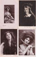 Phyllis Zena Dare Bilie Burke 4x Real Photo Edwardian Actress Postcard S - Juneau