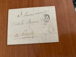 LETTRE DU 14 JUILLET 1852  - D'agde Pour Grasse   ( Port Offert ) - 1849-1876: Klassieke Periode