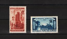 1951 - Expo Des Tehniques Industrialle Mi No 1252A/1253A Et Yv No 1140/1141 MNH - 1948-.... Republiken