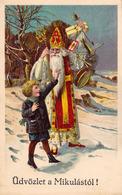 SAINT NICOLAS / SANKT NIKOLAUS / ÜDVÖZLET A MIKULÁSTÓL ! - C. H. W. VIII/2 - ANNÉE / YEAR ~ 1905 - '910 (ad741) - Saint-Nicolas
