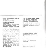 R.VAN RIJSSEL °GENT 1931 +BRUGGE 1988 (L.DOBBELS) - Devotion Images