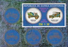 Guinea Equatoriale 1976 Bf. 229B Expo Cars Auto Epoca CEIRANO Horch Sheet Imperf. CTO - Esposizioni Filateliche