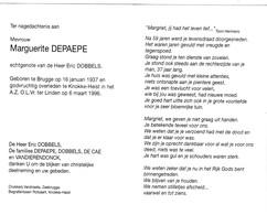 M.DEPAEPE °BRUGGE 1937 +KNOKKE-HEIST 1996 (E.DOBBELS) - Devotion Images