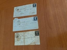 LETTRES DE FREJUS  Pc 1334 Pour Cannes - Sur 20c Bleu Foncé Et Bleu Noir  ( Port Offert ) - 1849-1876: Klassieke Periode