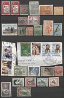 30 Stamps Restant Collection South America Countries  - Dubbels + 6 Stamps On Fragment Cuba Bolivia Panama Etc - Autres - Amérique