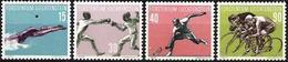 Liechtenstein 1958: Sport V Natation Escrime Tennis Cyclisme Zu 309-312 Mi 365-368 Yv 327-330* Falz MLH (Zu CHF 30 -50%) - Liechtenstein