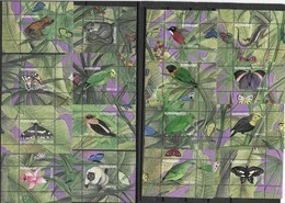SURINAME, 2019, MNH, NATURE, BIRDS, PARROTS, BUTTERFLIES, FROGS, LIZARDS, REPTILES, FLORA, 16 S/SHEETS - Papagayos