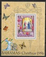 BAHAMAS 1996 BUTTERFLIES, CHRISTMAS AND FLOWERS - Schmetterlinge