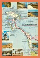 A672 / 589 85 - ILE DE NOIRMOUTIER Carte Géographique Multivues - Frankreich