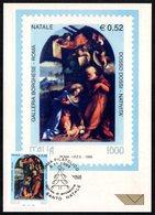 PAINTING / CHRISTMASS - ITALIA ROMA 1999 - SANTO NATALE - GALLERIA BORGHESE - DOSSO DOSSI: NATIVITA' - CARTOLINA MAXIMUM - Arte