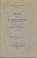 Brochure: Discours De M. Marcel Poignard à La Mémoire Des Avocats (Cour De Paris) Morts Pour La France 1946 - Right