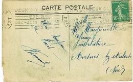 KRAG PARIS GARE DE L'EST JEUX OLYMPIQUES 1924  SUR CPA ETAT - Marcophilie (Lettres)