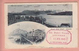 OLD POSTCARD SWITZERLAND - SCHWEIZ - SUISSE -   - LUZERN - HOTEL TIVOLI - LU Luzern