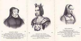 Catherine De Medicis Charlotte De Savoie Anne De Bretagne 3x Postcard S - Frankrijk