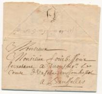 Belsele - Voorloper Met Inhoud – Belsele 30.05.1691 Naar Brussel - Port 2 Stuiver Met Krijtstrepen - - 1621-1713 (Spaanse Nederlanden)