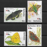 BARBADOS 1991 BUTTERFLIES - Butterflies