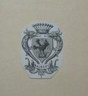 Petit Ex-libris Héraldique Illustré XIXème - KALNOKY - Ex-libris