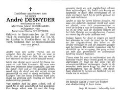 A.DESNYDER °HEIST Aan ZEE 1924 + 1998 (A.DOBBELAERE - D.COUHYSDER) - Devotion Images