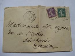 MARSEILLE  A  LA  REUNION    N° 8  -     ENVELOPPE - Marcophilie (Lettres)