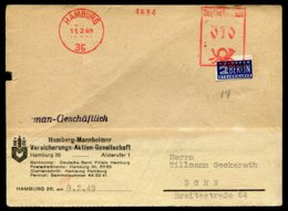 16620 ALLEMAGNE  10p.  Hambourg  Du 11.2.49  B/TB - Zone Anglo-Américaine