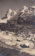 Palace Hotel Murren 1920s Switzerland Aerial Vintage Postcard - Zwitserland