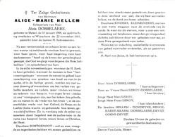 A.HELLEM °MESEN 1898 +WIJTSCHATE 1961 (A.DOBBELAERE) - Devotion Images