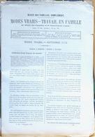 Revue: Modes Vraies, Travail En Famille (Musée Des Familles, Complément) Septembre 1870 - Moda