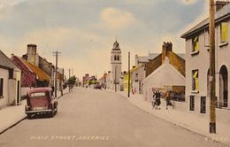 Skerries Main Street Bicycle 1950s County Fingal Irish Postcard - Irlanda