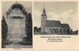 Alt Altmannsdorf, Münsterberg, Starczów, Ziębice – Denkmal, Kirche - Schlesien