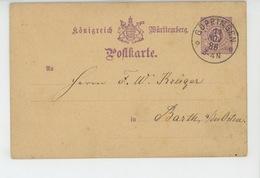 TIMBRES - ALLEMAGNE - POSTKARTE - Carte Postale écrite à GÖPPINGEN En 1886 - Allemagne