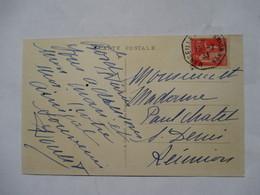 """MARSEILLE  A  LA  REUNION     N°4  -      """"  S S BERNARDIN DE St. PIERRE    """"     TROUS DE VER - Marcophilie (Lettres)"""