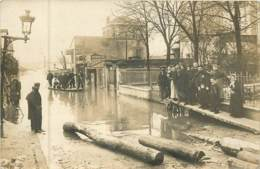 Dep - 75 - PARIS Carte Photo La Crue De La Seine Janvier 1910 - Paris Flood, 1910