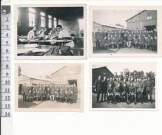 VICHY - 4 Petites Photos Datées Et Légendées, 1943 - Stage De Gendarmerie - WW2 - Vichy