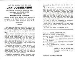 J.DOBBELAERE °HEIST 1892 +BLANKENBERGE 1966 (E.SAVELS-E.CASTELEYN) - Devotion Images