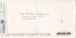 """MOVICOM, TELEFONIA PERSONAL"" ARGENTINA COMMERCIAL COVER, CIRCULATED CIRCA 2000. LUCIENNE CORREO PRIVADO -LILHU - Storia Postale"