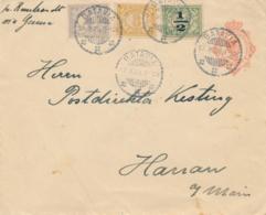 Nederlands Indië - 1923 - 12,5 Cent Wilhelmina, Envelop G46 Met Tricolore Bijfrankering Van Batavia Naar Hanau / Dld - Netherlands Indies