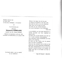 M.DOBBELAERE °LAPSCHEURE 1901 +KNOKKE-HEIST 1997 (E.MOSSET) - Devotion Images