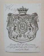 Ex-libris Héraldique Illustré XVIIIème - GEORGE EARL OF MACARTNEY Knight Of The Order Of The White Eagle And Of The Bath - Ex-libris