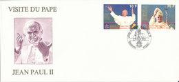 RWANDA FDC   1990 VISITE DU PAPE JEAN PAUL II - Rwanda