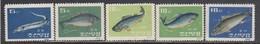 Korea North 1962 - Fishes, Mi-nr. 408/12, MNH** - Korea, North