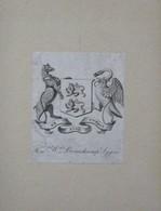 Ex-libris Héraldique Illustré XVIIIème - BEAUCHAMP-LYGON - Ex-libris