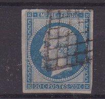 FRANCE : N° 14 . TYPE EMPIRE . OBL . GRILLE . TB . - 1849-1876: Période Classique