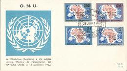 RWANDA FDC 1962 ONU - Rwanda