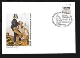 Germany Ganzsache Bellevue Berlin W/print Berliner Briefmarkentage 2001 - Used Berlin 2001  (G107-68) - Sobres Privados - Usados