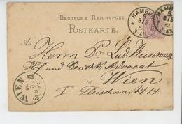 TIMBRES - ALLEMAGNE - POSTKARTE - DEUTSCHE REICHSPOST - Carte Postale écrite à HAMBURG En 1882 Pour Destinataire à WIEN - Allemagne
