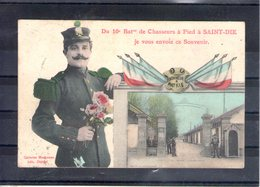 88. Du 10e Bataillon De Chasseurs à Pied à Saint Dié Je Vous Envoie  Ce Souvenir - Saint Die