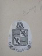 Ex-libris Héraldique Illustré XVIIIème - LINDSAY OF WESTVILLE - Ex-libris